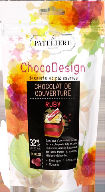 Chocolat de pâtisserie ruby